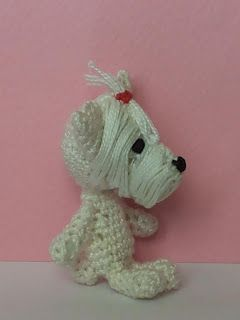 Amigurumi West Highland Terrier dog - 5 cm