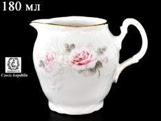 Молочник 180 мл Бернадотт Серая роза золото