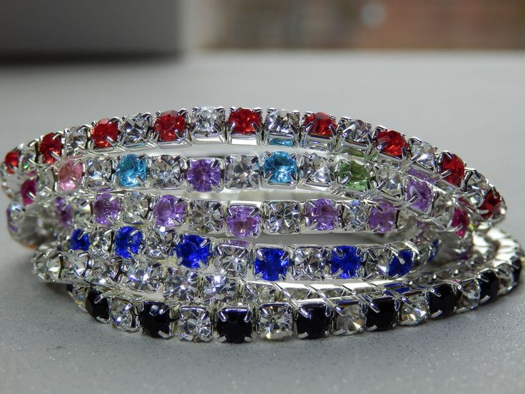 Bling Bracelets, Sparkle Stretch Bangle, Stack Bracelet, Rhinestone, Diamante