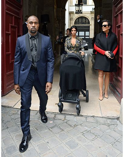 The midnight blue tuxedo is the ultimate alternative to your classic black edition. It's bolder, more fashion-y, and you'll easily stand out from the pack without sticking out like an underdressed sore thumb. Basically, if you show up to a black-tie party in a midnight blue tuxedo, you are a boss. Well aware of this fact, here is Kanye in a perfectly cut shawl collar version, keeping things tonal with the black shirt.
