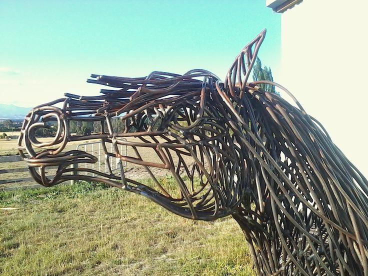 '10 foot tall' Pony sculpture by Sharon Earl.   www.sharonearl.com Twitter @weldagirl Instagram sculptor.sharonearl