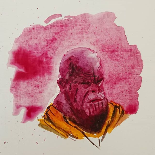 Thanos Watercolor By Papablogueur J Ai Tente Un Petit Quelque