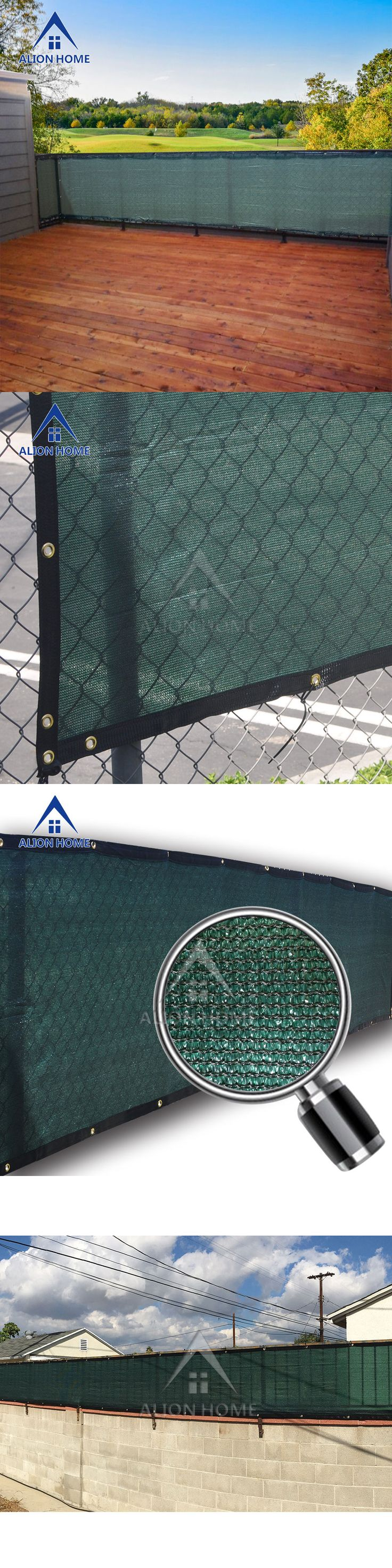 Privacy screen for chain link fence ebay - Privacy Screens Windscreens 180991 Alion Home Custom Sized Patio Fence Privacy Screen
