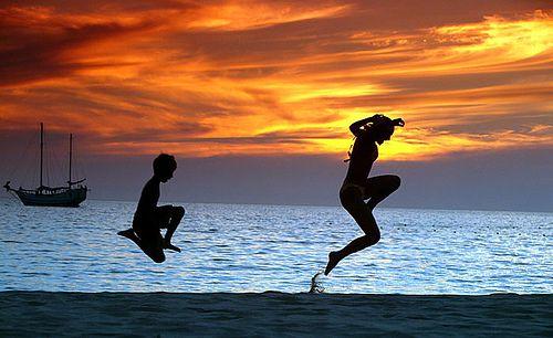 Beach jumping in Phuket