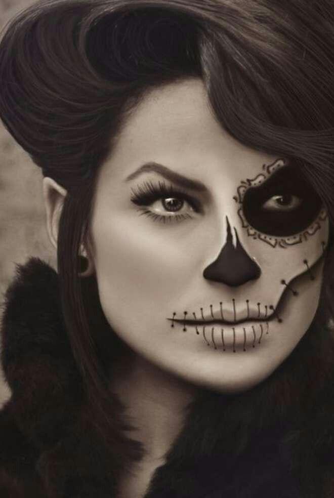 maquillage squelette femme