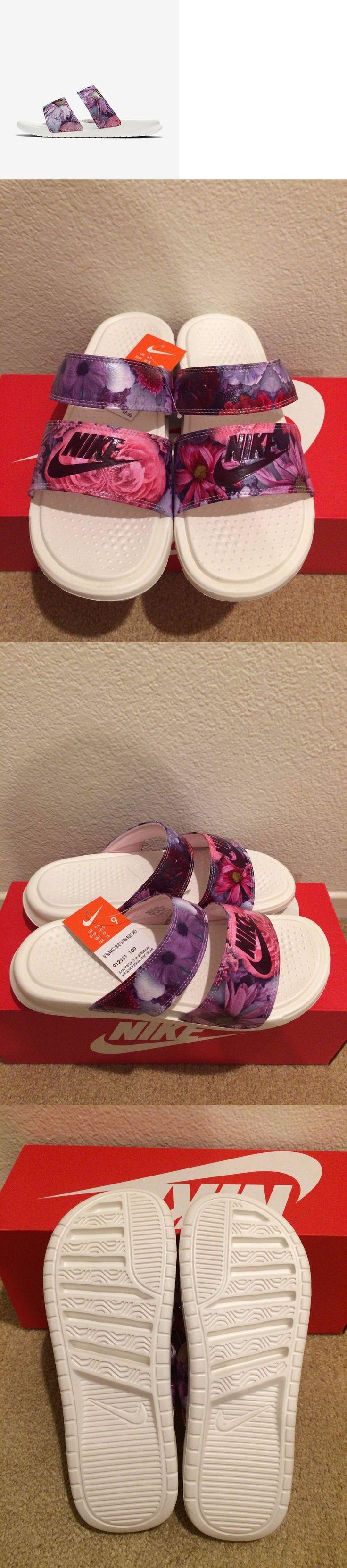Sandals and Flip Flops 62107: Ds Women S Size 9 Nike Benassi Duo Ultra Premium Slide 912931-100 Slides Sandals -> BUY IT NOW ONLY: $54.99 on eBay!