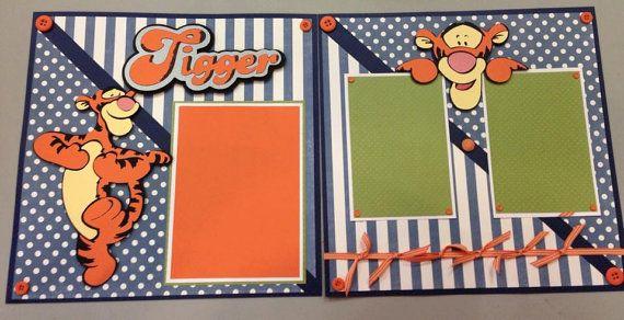Tigger Scrapbook Layout by CreativeAsIWantToBe on Etsy, $20.00