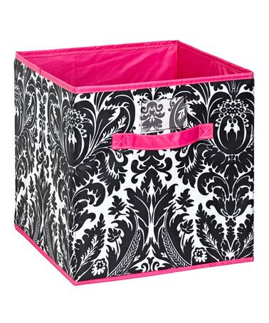 Take a look at this Damask Storage Cube by Isaac Mizrahi New York on #zulily today! Seriously could not have come at a better time for my laundry/storage room redo!