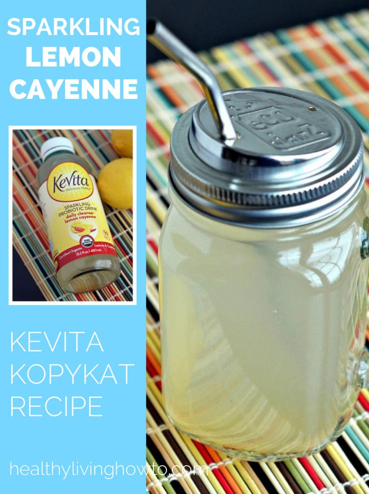 Sparkling Probiotic Lemonade - Boost your metabolism while healing your body! - low carb
