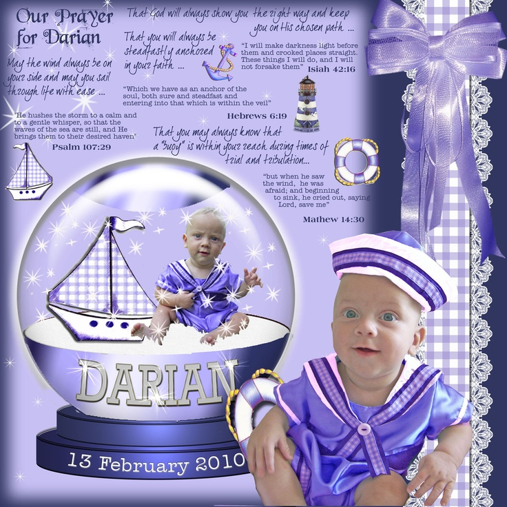 Was a lot of fun trying to figure out how to put the photo of the little sailor boy into a snow-globe