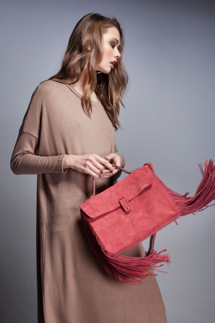 Small Soft #leatherbag Fringes Edition