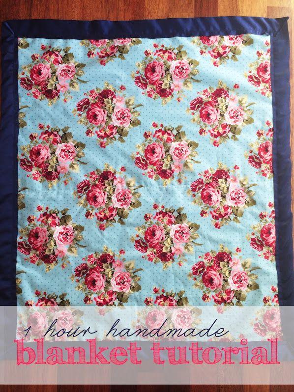 1 Hour Handmade Blanket Tutorial