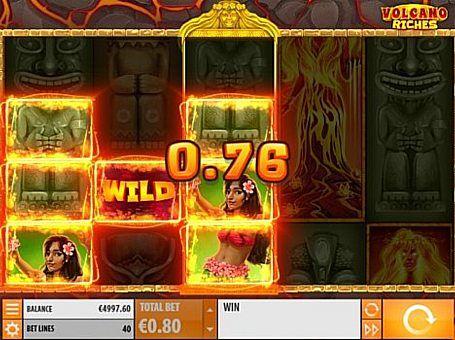Ігровий автомат Volcano Riches онлайн з виведенням грошей  Головними героями ігрового апарату Volcano Riches стали жителі південних островів. Він отримав 5 барабанів і 40 ліній. Фріспіни і бонусна функція забезпечать вам регулярний виведення грошей з цього онлайн автомата.