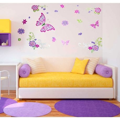 Vinilo decorativo mariposas de colores - $ 24.900