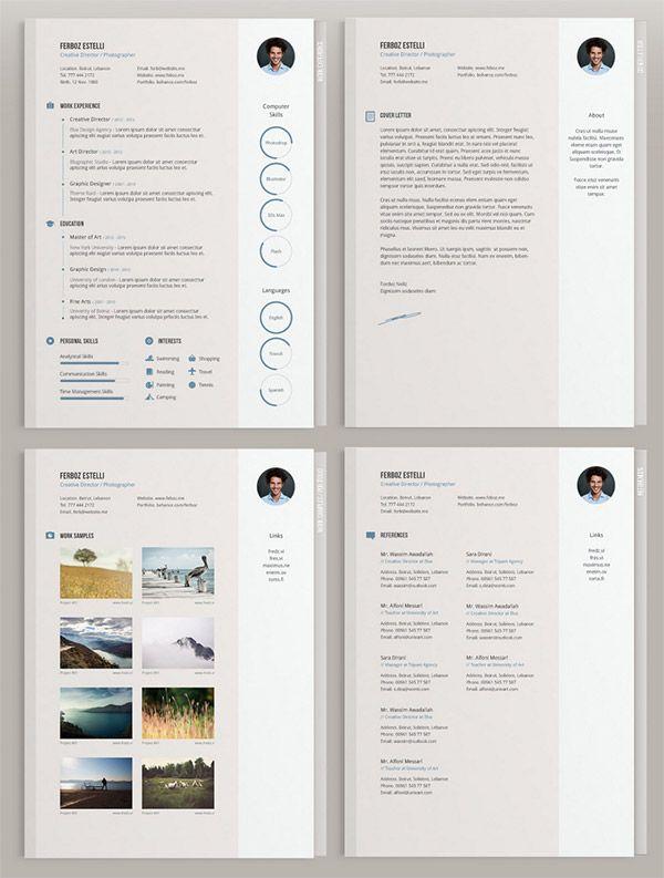 20 Free Editable CV Templates -Minimal CV Template by Theme Raid