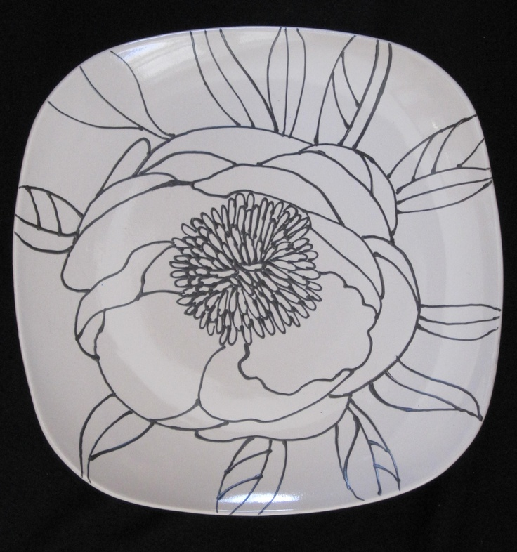 Hand Painted Plate                                                                                                                                                                                 Mais
