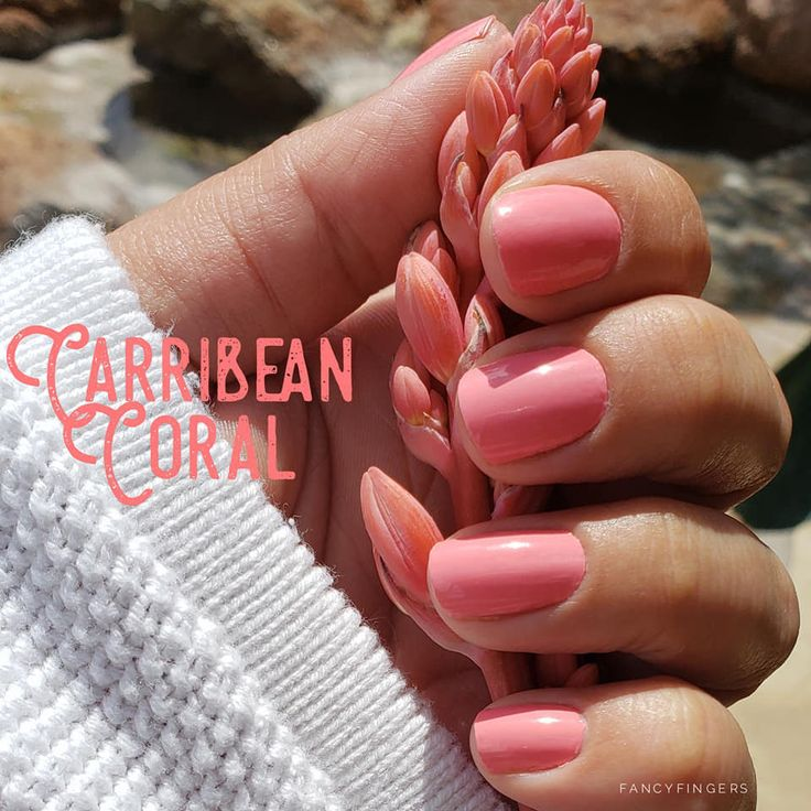 Caribbean Coral Color Street Nails In 2020 Color Street Nails Spring Nail Colors Nail Colors
