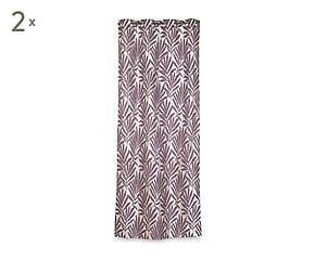 2 Rideaux PALMYRE coton et polyester, mauve - 135*270