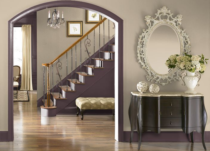 This Is The Project I Created On Behr Com I Used These Colors Deep Aubergine 100f 7 Leapfrog 380d 6 Chestnut Stallion 24 Behr Colors Room Colors Behr Paint
