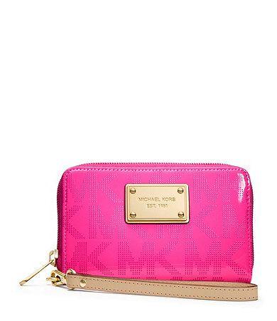 Hot Pink Michael Kors Wallet. #Dillards