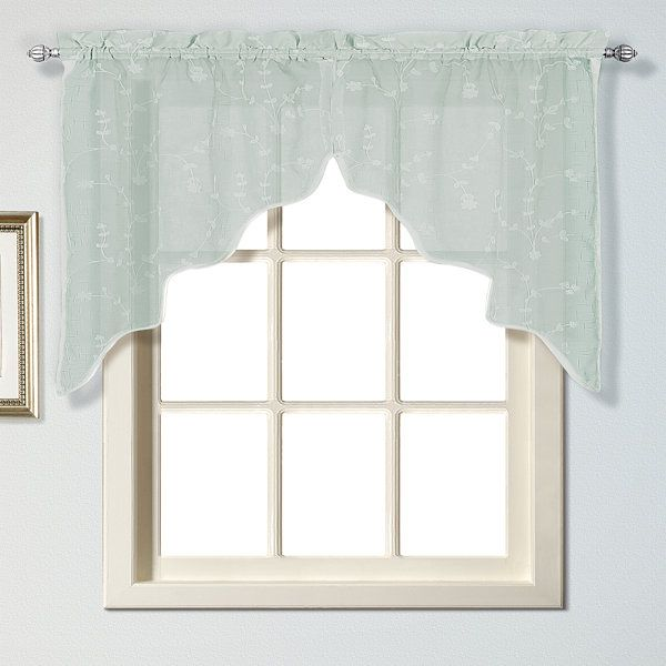 Kitchen Cabinet Valance Ideas: Kitchen Curtains, No Sew Valance And Faux Roman