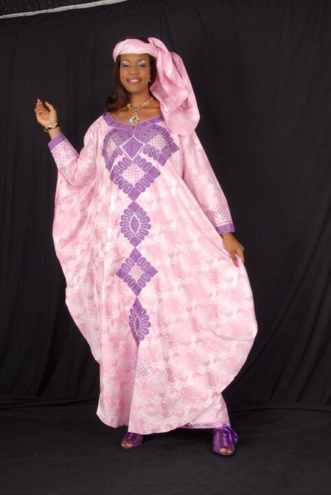 Bazin grandboubou embroidered by NewAfricanDesigns on Etsy