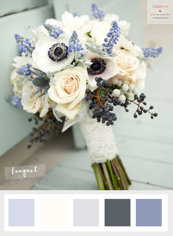 Choosing The Ideal Winter Wedding Flowers | itakeyou.co.uk #winterweddingflowers #anemonie