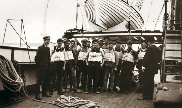 Life jacket inspection - Titanic Sinking 100th Anniversary: All aboard! Real photos on board the Titanic before it sank - NY Daily News