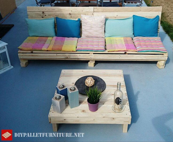 1000 images about pallet on pinterest pallet couch for Paletten sofa outdoor