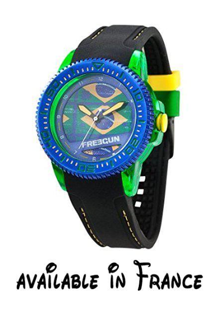 d41d7b0a94545 B00D67YQJ0 : Freegun - EE5050 - Montre Mixte - Quartz Analogique - Cadran  Multicolore - Bracelet