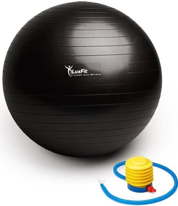 Exercise Ball, LuxFit PremiumBall Includes Foot Pump.  Slip Resistant! 65cm