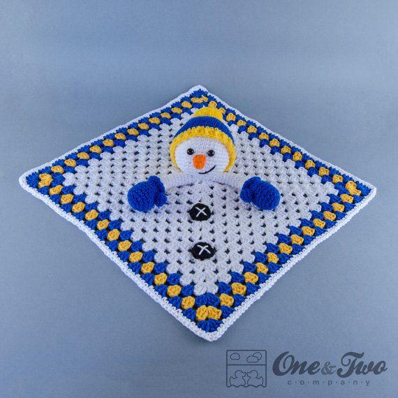 Снеговик Lovey / Безопасность одеяло PDF крючком от oneandtwocompany