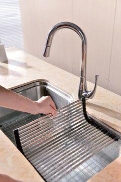 Dawn Stainless Steel Sinks transitional-dish-racks