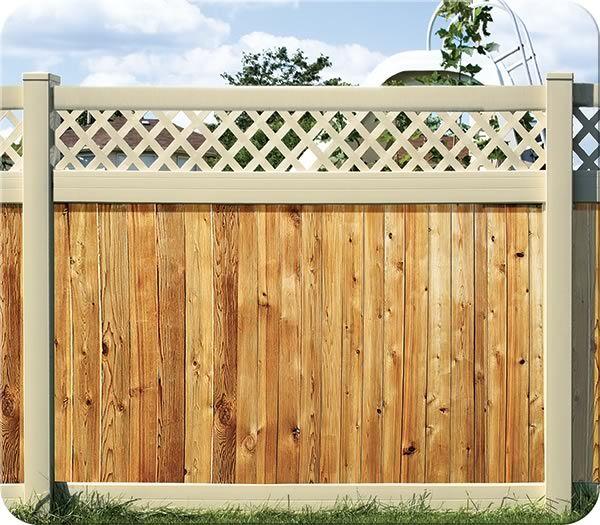 fence-all jameson vinyl/cedar fence