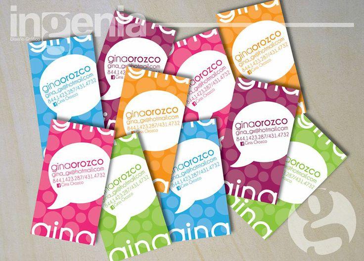 Tarjetas de Presentación Para más muestras agréganos  www.facebook.com/ingenia.disenografico