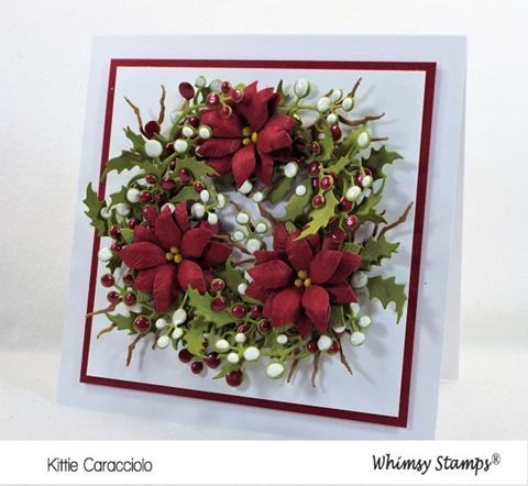 Card Making Ideas | Paper Crafts | Handmade Greeting Cards | Christmas Cards | Flower Cards.    Click on the picture if you would like to see how I made this card.