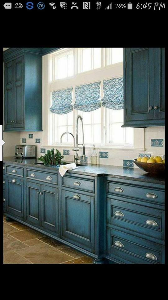 Your Kitchen Cabinets Do Not Have To Be White Explore 23 Gorgeous Blue Cabinet Ideas And See The Suggested Paint Colors