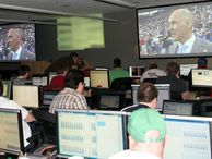 Peek at a Big Game IT 'war room' -- at Domino's Pizza The company will deliver millions of pies in just a few hours during today's 49ers/Ravens Super Bowl faceoff, and an impromptu information systems brain center in Michigan will make it all possible.