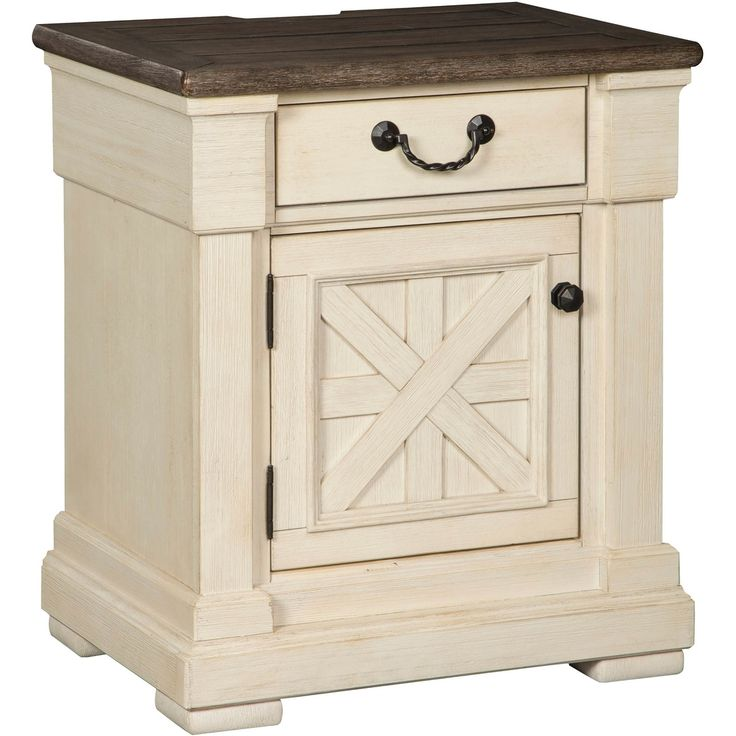 Best Signature Design By Ashley Bolanburg 2 Tone Nightstand White Paneling Furniture Bedroom Sets 400 x 300