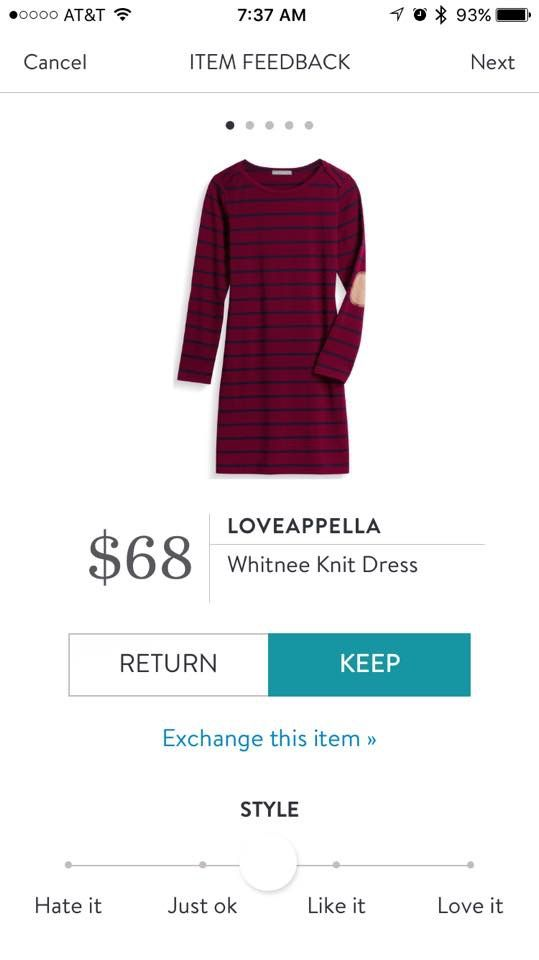 Loveapella Whitnee Knit Dress - Burgundy and navy - Stitch Fix 2016
