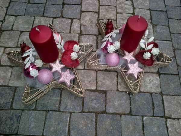 Galerie :: MY FLORIST Chrismas single candleholders, star shaped