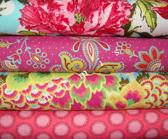 YARD Bundle Amy Butler Fabric / Soul Blossoms /  PINKS /  by mimis