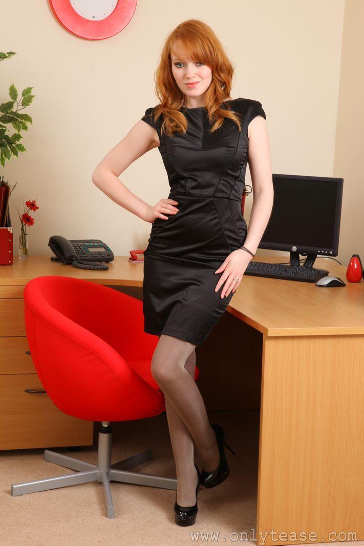 Office girl in black satin office secretary fantasy pinterest black satin satin and - Office girls in stockings ...