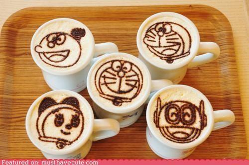 Doraemon Latte Art!