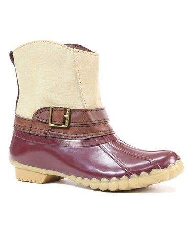 Loving this Chocolate Canvas Step-In Duck Chooka Boot on #zulily! #zulilyfinds