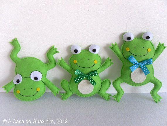Felt Frogs - Set of 3