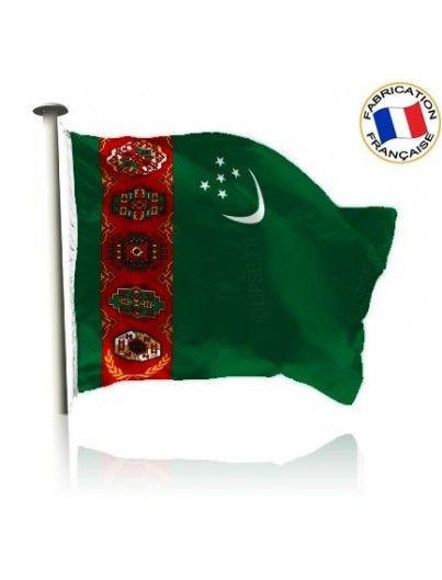 Drapeau Turkménistan Mande In France by Manufêtes