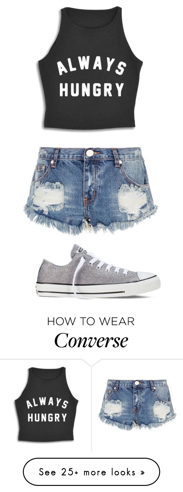 """""""Untitled #99"""" by lilymaemae on Polyvore featuring One Teaspoon and Converse"""