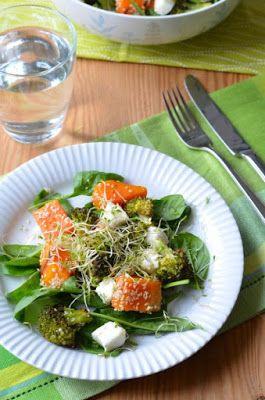 Saláta sütőtökkel, brokkolival, kecskesajttal Tipikus Flammeres: Hová lett a brokkoli?