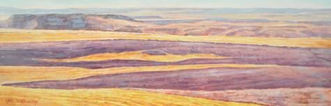 """Carl Schlademan - Way Down South 16 x 48"""" acrylic/canvas 